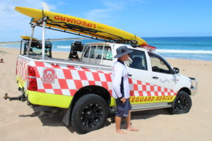 A Sutherland Shire Life Guard on duty